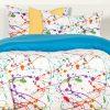 Paint Splatter Bedding Splat Bed Cap Comforter Set