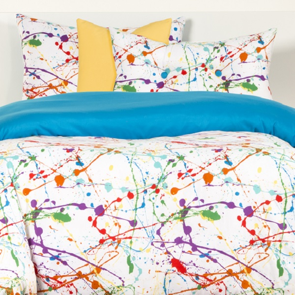Black Paint Splatter Comforter