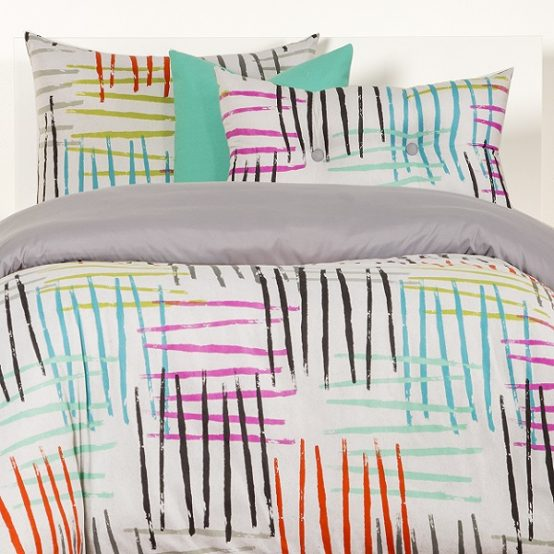 Brush Stroke Bedding Stroke of Genius Bed Cap Comforter Set