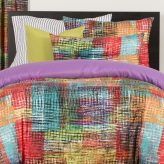 Vibrant Eclectic Bedding Etch Bed Cap Comforter Set with Sham and Two Toss Pillows