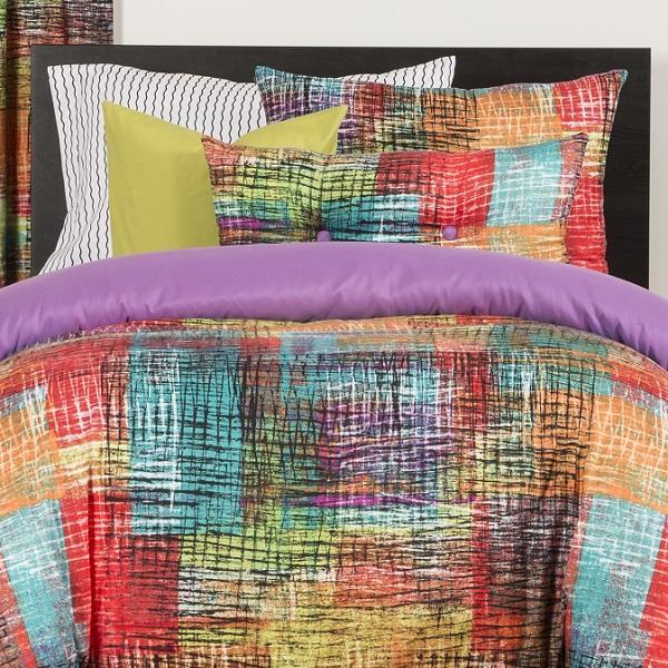 Eclectic Bedding Vibrant Etch Bed Cap Comforter Set