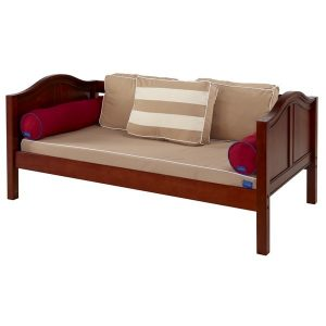Four Corner Fitted Mattress Cover on Chestnut Curve Daybed
