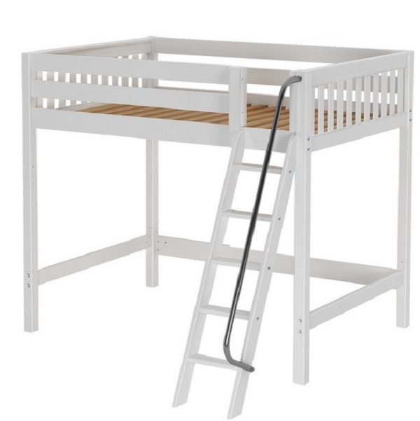 home products beds full size white slat high loft bed