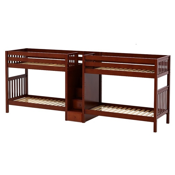 Quadruple Bunk Bed With Staircase Twin Twin Quad Bunks