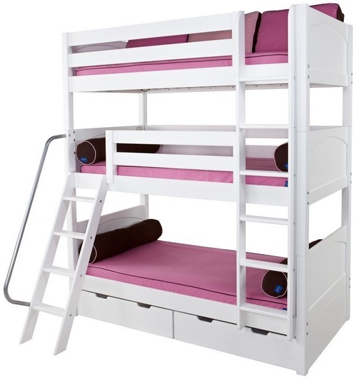 Triple Wooden Bunk Beds