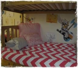 Zippy Candy Pink Bunk Bed Hugger
