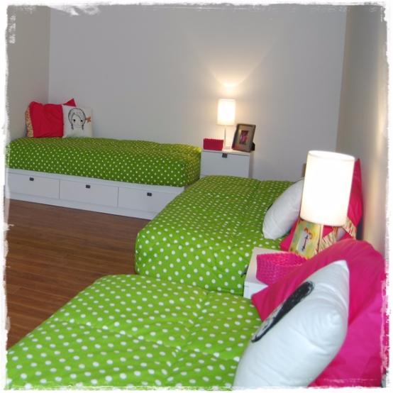 Chartreuse White Polka Dot Bunk Bed Hugger