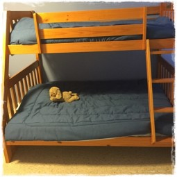 Blue Jean Denim Bed Cap Comforter in Chambray