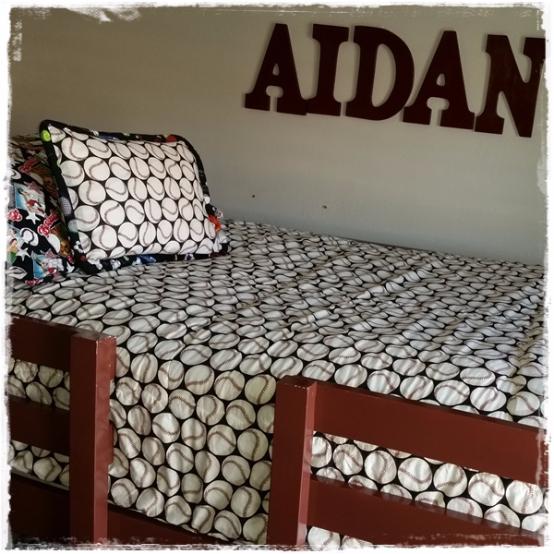 High Five Baseball Bunk Bed Hugger with Toss Pillow