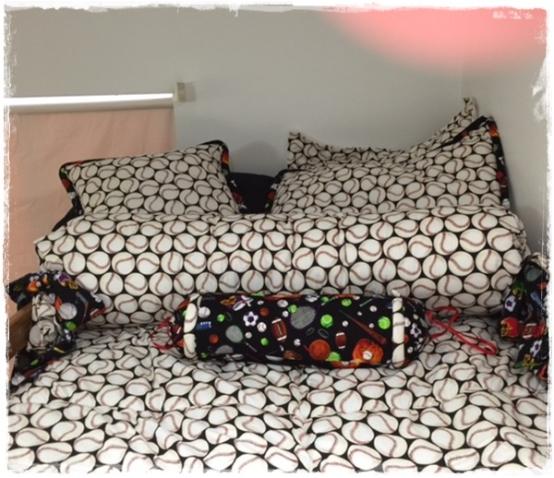 High Five Baseball Bunk Bed Hugger Set with Sham