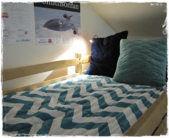 Zippy Turquoise Bunk Bed Hugger