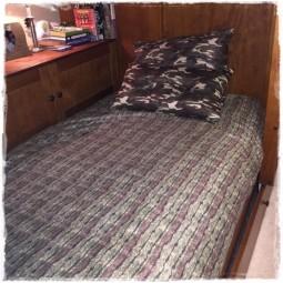 Unit Stripe reverse to Galaxy Camo Bed Cap Comforter Set