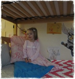 Zippy Bunk Bed Hugger in Candy Pink and White