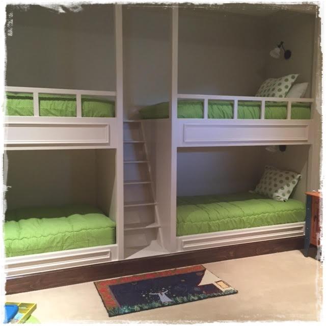 Chartreuese White Dottie Bunk Bed Huggers