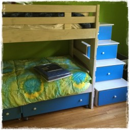 Tie Dye Lime Bunk Bed Hugger