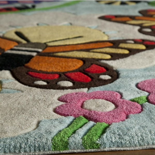 Kids Butterfly Rug Butterflies Amp Floral Kids Accent Rug