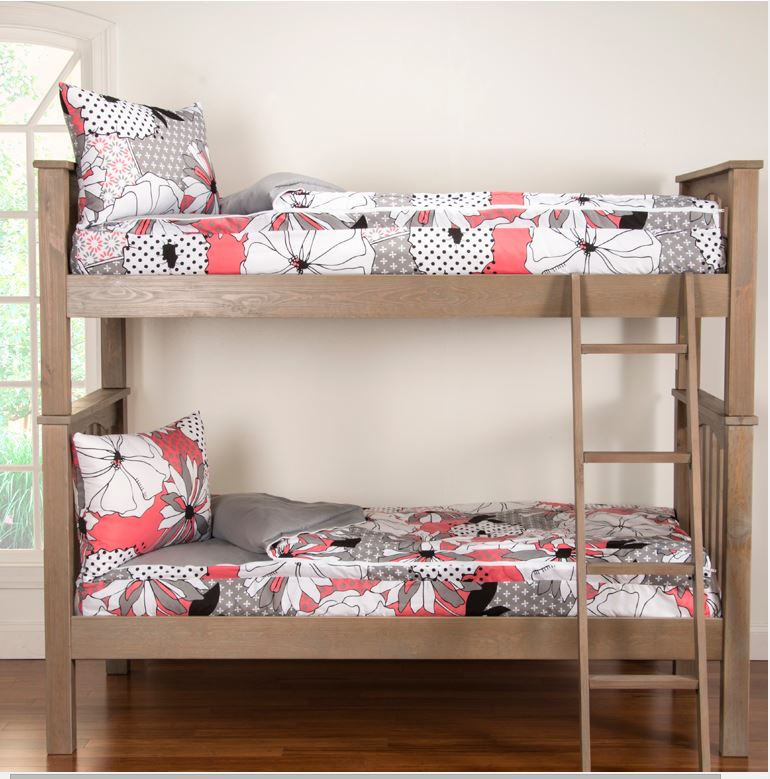 zipper bedding for bunk beds crayola flower patch bunkie. Black Bedroom Furniture Sets. Home Design Ideas