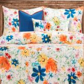 Modern Meadow Wispy Floral Bunk Bed Cap Comforter Set with Sham & Toss Pillows