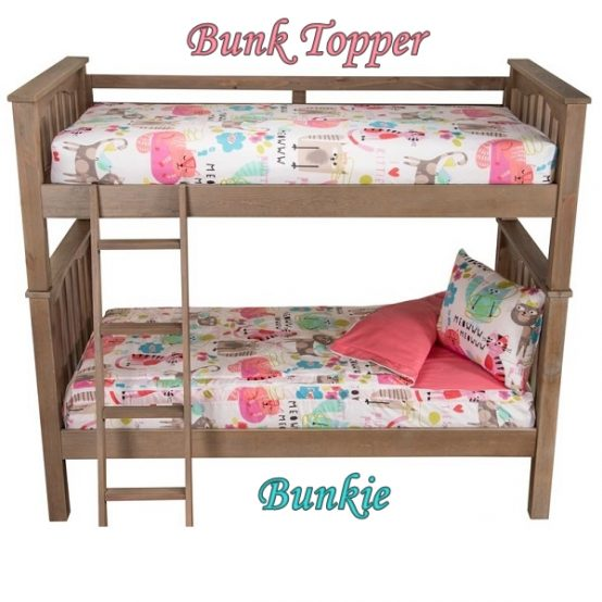Bunk Topper Four Corner Fitted Mattress Cover