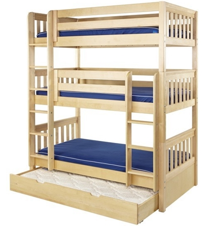 Wooden Triple Bunk Beds Solid Wood Triple Bunk Beds