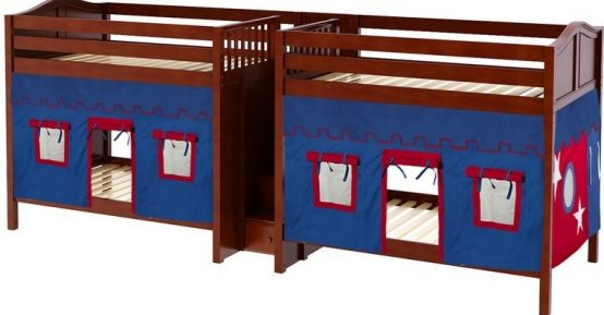 wood quadruple bunks