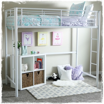 Twin Metal Loft Beds for Girls