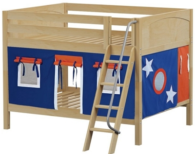 Full over Full Wood Bunk Beds