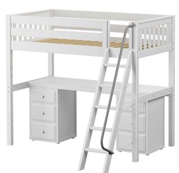 Wood Loft Beds With Desk Sleep Amp Study Loft Beds