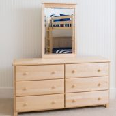 6 drawer dresser natural finish