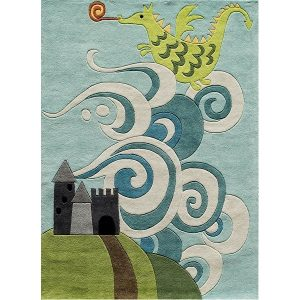 Dragon Rug for Kids Castle Themed Room