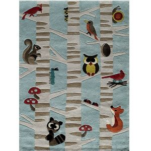 Forest Critters Animal Rug
