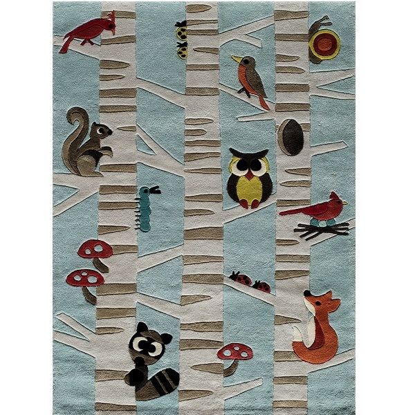 animal print rug forest critters accent or area rug