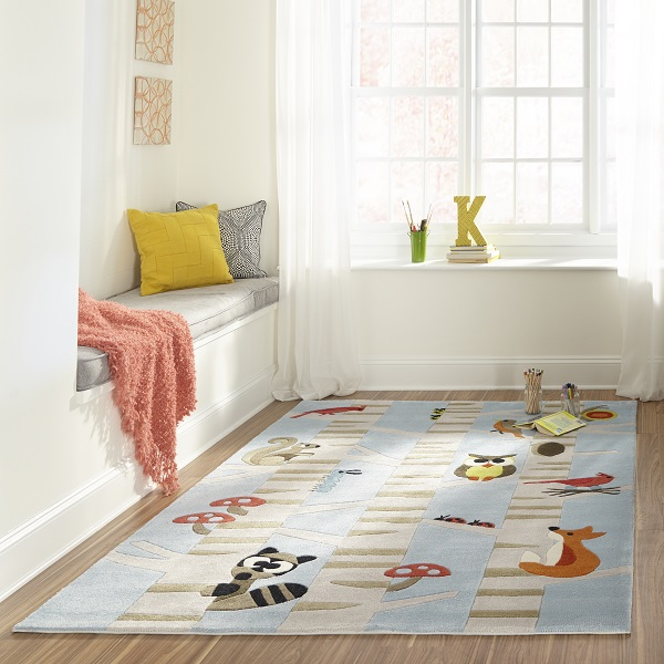 Animal Print Rug Area Or Accent Forest Critters Rug