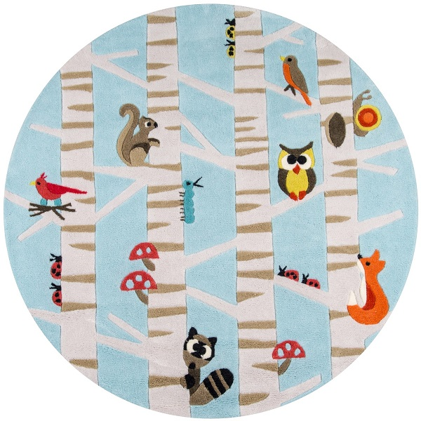 ... Forest Critters Animal Rug