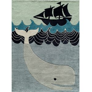 Whale Rug for Ocean Themed Rooms