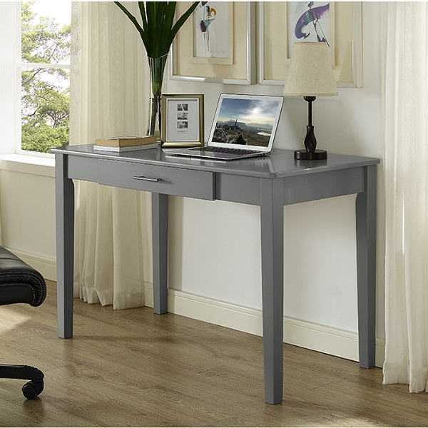 Grey Desk Small Writing Desk In Trendy Grey