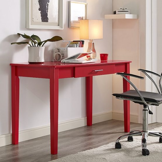 Simple Red Desk