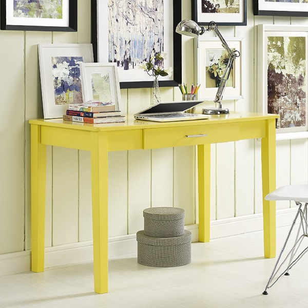 Yellow Desk Modern Writing Desk In Accent Colors