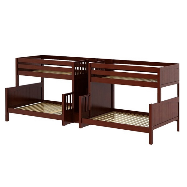Twin Full Quadruple Bunk Bed With Staircase