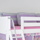 Purple & Grey Back Pillows for Daybeds and Toddler Beds
