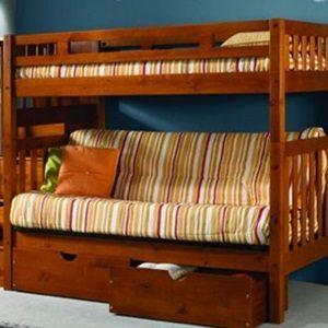 Futon Wooden Bunk Beds