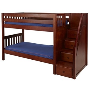 Stair Step Wooden Bunk Beds