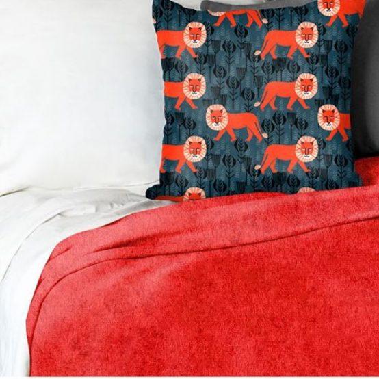Red Minky Blanket