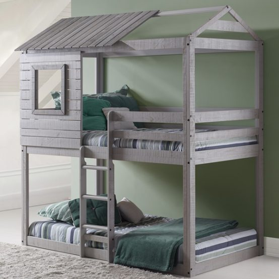 Grey Deer Blind Treehouse Bunk Bed