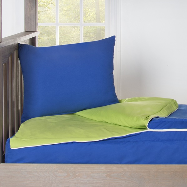 Berry Blue Solid Color Zipper Bedding Bunkie With Sham