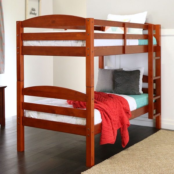 Cherry Bunk Bed Twin over Twin