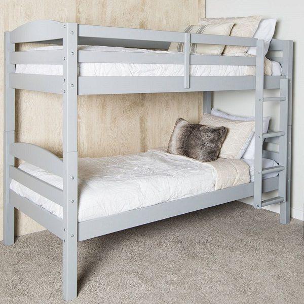 Grey Wooden Bunk Bed