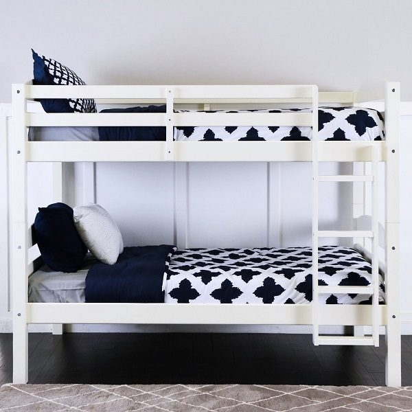 White Wood Bunk Bed Affordable Solid Wood Twin Twin Bunk
