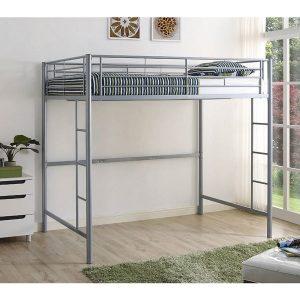 full size loft bed silver
