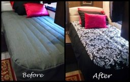 Custom RV Bedding Makeover